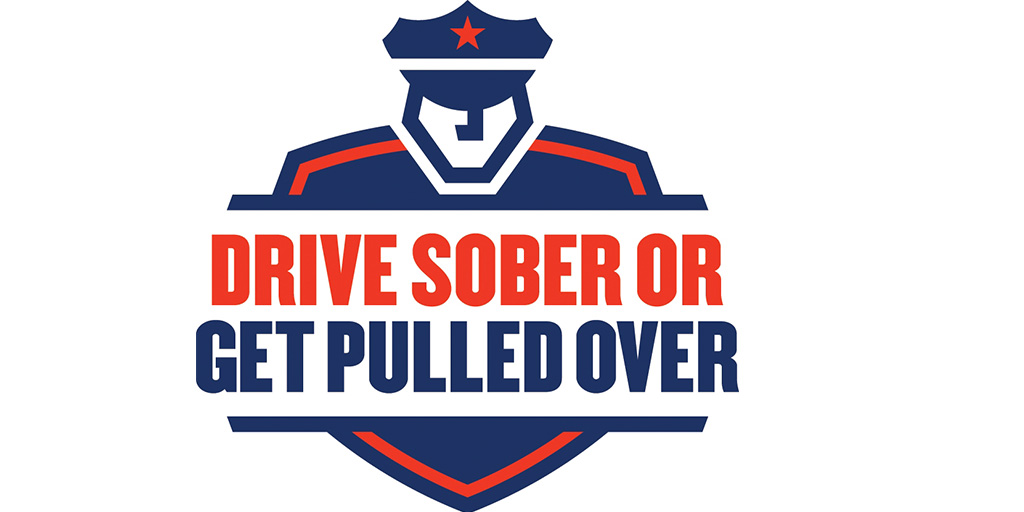 NHTSA's animated logo for Drive Sober or Get Pulled Over campaign