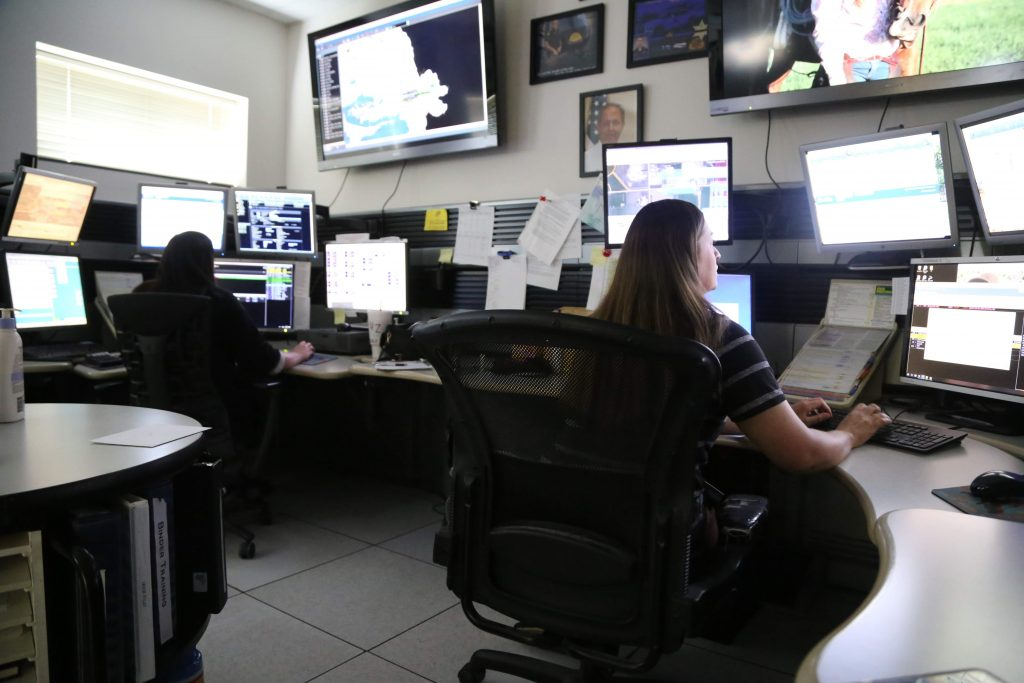 Dispatchers at Box Elder Communications Center take calls