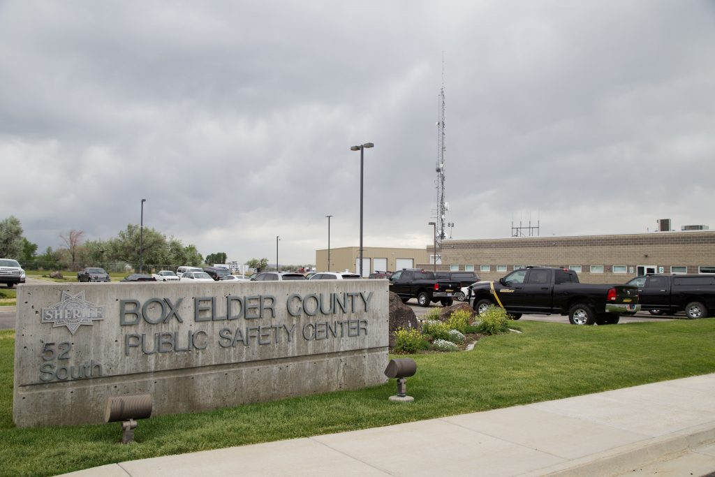 Photo shows the front of the Box Elder County Public Safety Center