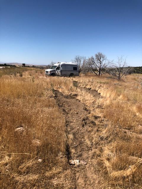 Photo of crashed van on Interstate 15 near Holden.