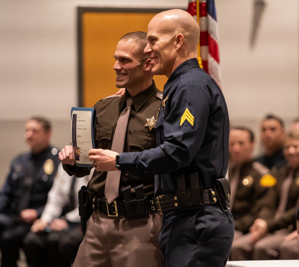 New trooper Dunn received the outstanding physical fitness award.