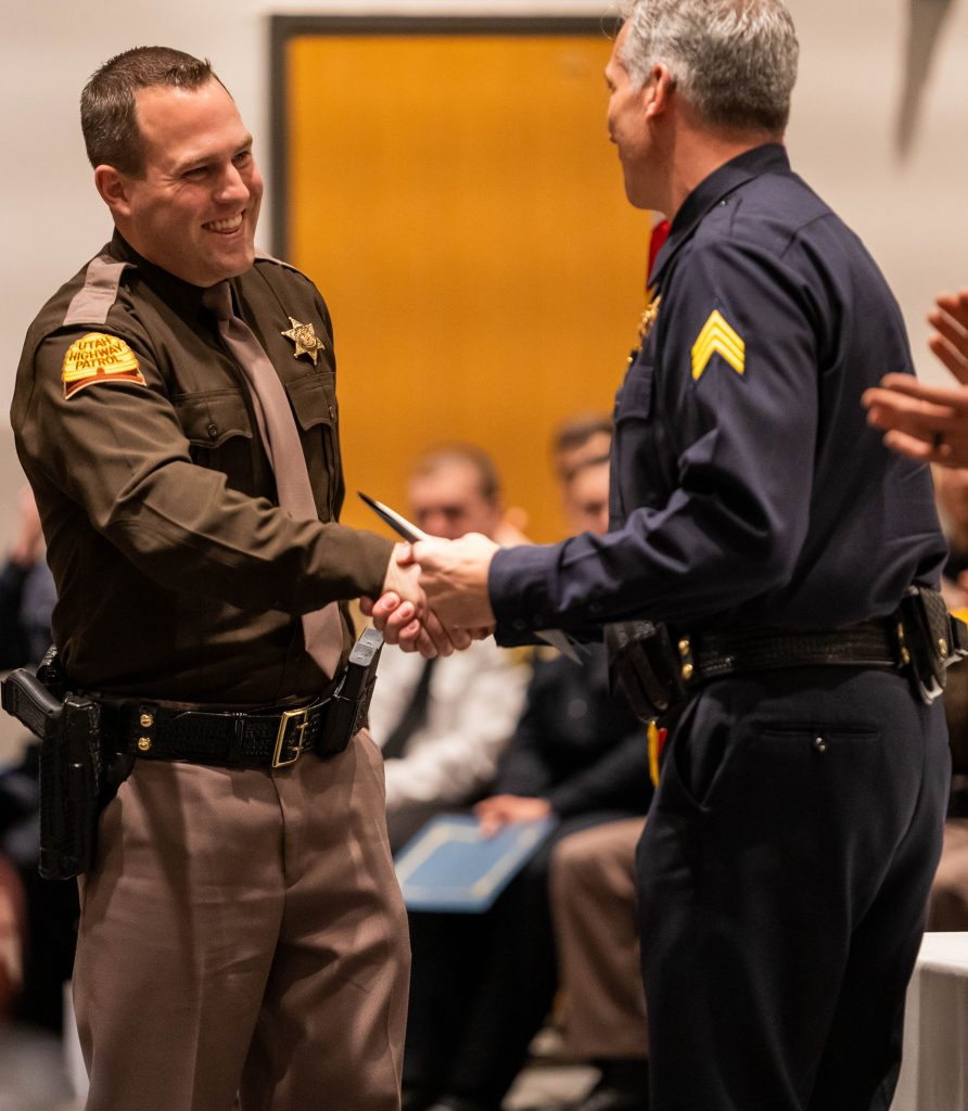 Trooper Bagley received the high academic award.