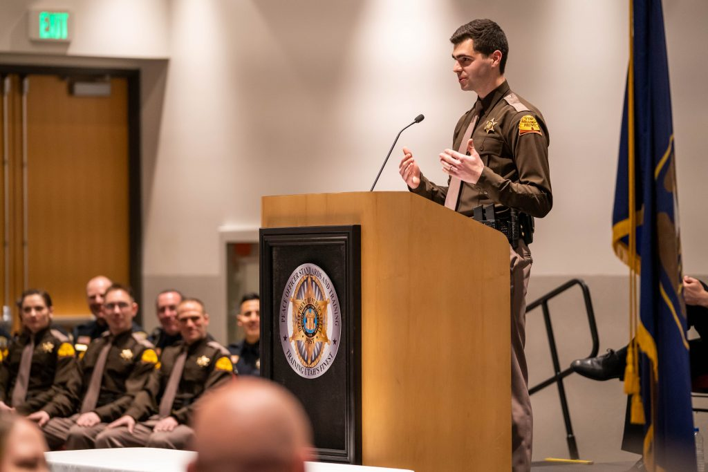 Trooper Citta delivered the class response at the graduation.