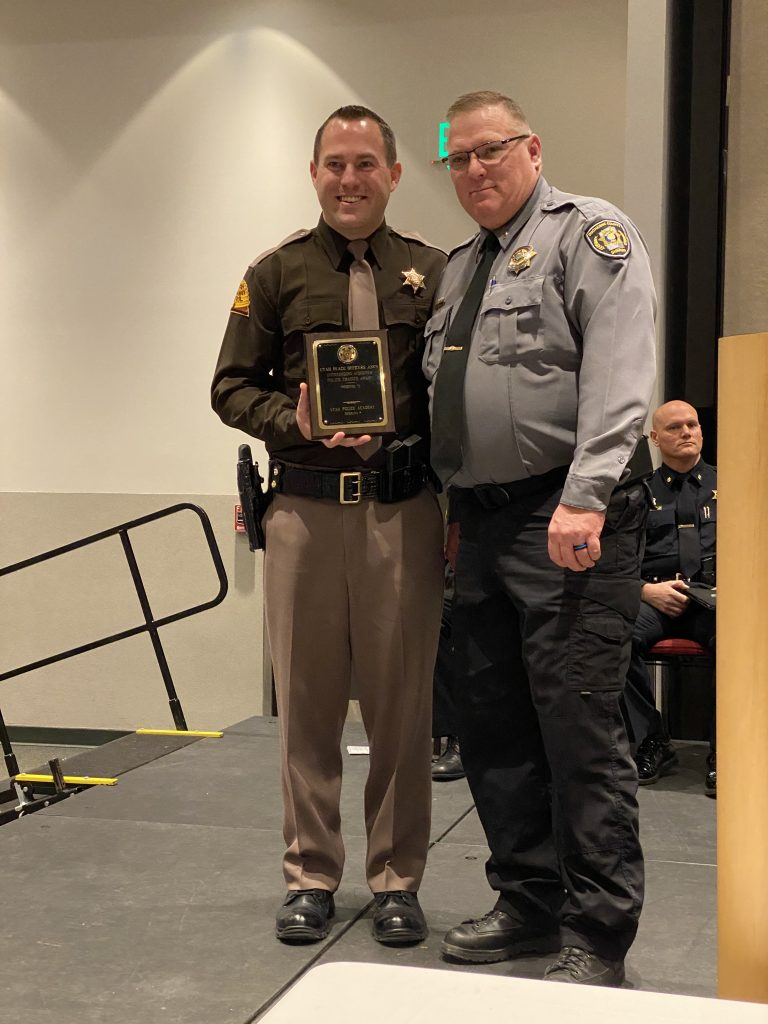 New Trooper Bagley received the outstanding achiever award from the UPOA