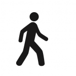 Icon of a person walking
