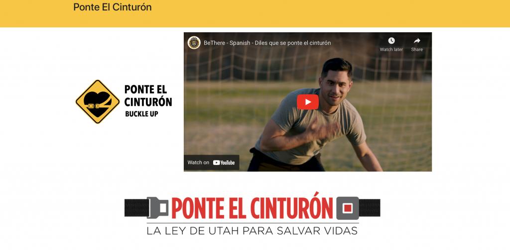 Screen cap from clickit.utah.gov/ponte website
